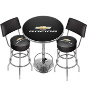 Chevrolet Racing Game Room Combo - 2 Stools w/Back & Table