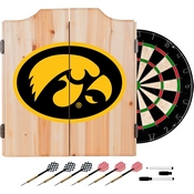 University of Iowa Dart Cabinet - Includes Darts and Board