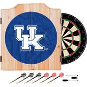 University of Kentucky Wood Dart Cabinet Set - Fade