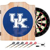 University of Kentucky Wood Dart Cabinet Set - Reflection