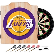 Los Angeles Lakers NBA Wood Dart Cabinet Set