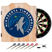 Minnesota Timberwolves NBA Wood Dart Cabinet Set