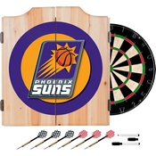 Phoenix Suns NBA Wood Dart Cabinet Set