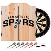 San Antonio Spurs NBA Wood Dart Cabinet Set