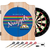 Denver Nuggets Hardwood Classics NBA Wood Dart Cabinet