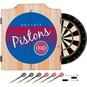 Detroit Pistons Hardwood Classics NBA Wood Dart Cabinet