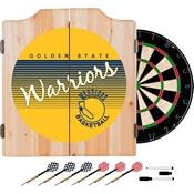 Golden State Warrior Hardwood Classics NBA Wood Dart Cabinet