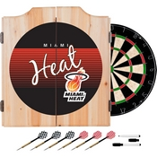 Miami Heat Hardwood Classics NBA Wood Dart Cabinet