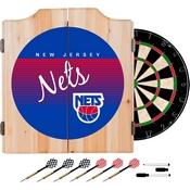 New Jersey Nets Hardwood Classics NBA Wood Dart Cabinet