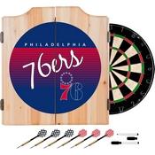 Philadelphia 76ers Hardwood Classics NBA Wood Dart Cabinet
