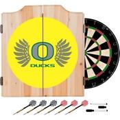 University of Oregon Wood Dart Cabinet Set - Wings