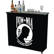 POW Metal 2 Shelf Portable Bar Table w/ Carrying Case