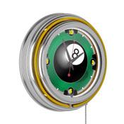 Rack'em 8 Ball 14-inch Neon Wall Clock