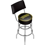 Waffle House Wordmark Padded Swivel Bar Stool with Back