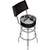 U.S Army The Horn Calls Padded Bar Stool with Back