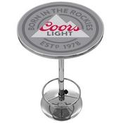 Coors Light Chrome Pub Table