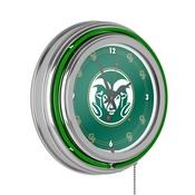 Colorado State University Neon Clock - 14 inch Diameter