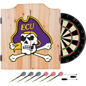 East Carolina U. Dart Cabinet - !ncludes Darts and Board
