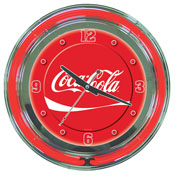 Coca-Cola Neon Clock - Dynamic Ribbon - Two Neon Rings