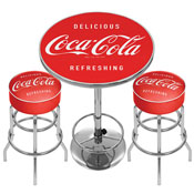 Ultimate Coca-Cola Gameroom Combo - 2 Bar Stools and Table-1