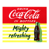Mighty Refreshing Stretched Canvas Print 18x22 Inch