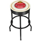 Corona Black Ribbed Bar Stool - Vintage