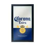 Corona Framed Mirror Wall Plaque 15 x 26 Inches - Can