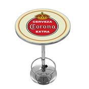 Corona Chrome Pub Table - Vintage