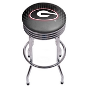 University of Georgia Chrome Ribbed Bar Stool - Reflection