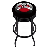 University of Georgia Black Ribbed Bar Stool - Honeycomb