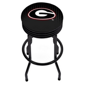 University of Georgia Black Ribbed Bar Stool - Reflection