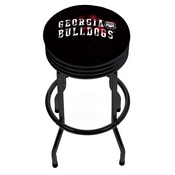 University of Georgia Black Ribbed Bar Stool - Smoke