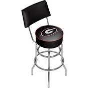 University of Georgia Swivel Bar Stool with Back - Reflection
