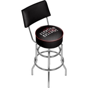 University of Georgia Swivel Bar Stool with Back - Smoke