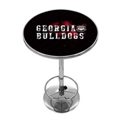 University of Georgia Chrome Pub Table - Smoke