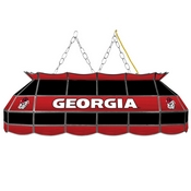 University of Georgia Handmade Stained Glass Lamp - 40 Inch