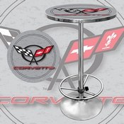 Corvette C5 Pub Table - Silver