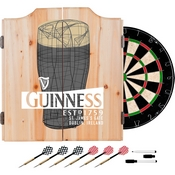 Guinness Dart Cabinet Set with Darts and Board - Line Art Pint