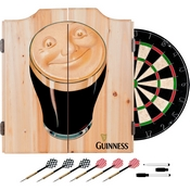 Guinness Dart Cabinet Set with Darts and Board - Smiling Pint