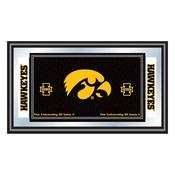 University of Iowa Logo and Mascot Framed Mirror