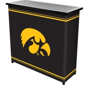 University of IowaT 2 Shelf Portable Bar w/ Case