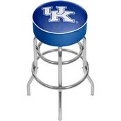 University of Kentucky Chrome Bar Stool with Swivel - Fade