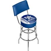 University of Kentucky Swivel Bar Stool with Back - Text