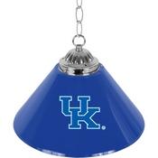 University of Kentucky Single Shade Chrome Bar Lamp - 14 inch