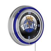 University of Kentucky Wildcats Chrome Double Rung Neon Clock - HC