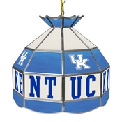 University of Kentucky 16 Inch Handmade Stained Glass Lamp - Blue