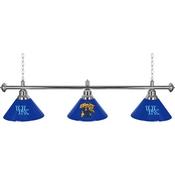 University of Kentucky 3 Shade Chrome Billiard Lamp -Wildcat