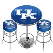 University of Kentucky Game Room Combo - 2 Bar Stools and Table