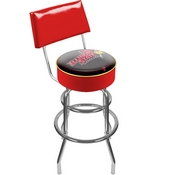 Illinois State University Padded Bar Stool with Back
