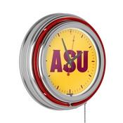 Arizona State University Neon Clock - 14 inch Diameter